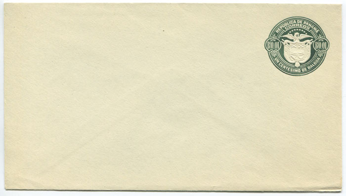 1929 Panama postal stationery B0.01 envelope