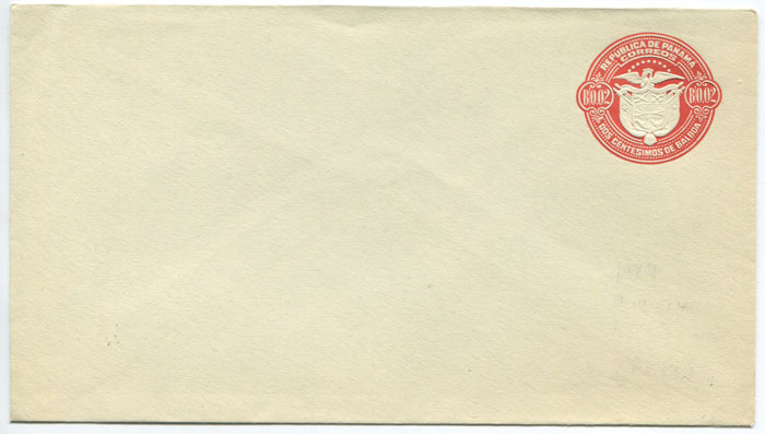 1929 Panama postal stationery B0.02 envelope