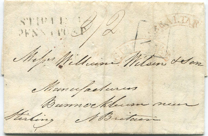1827 (30 May) EL from Gibraltar to Messrs William Wilson & Son, Bannockburn near Stirling