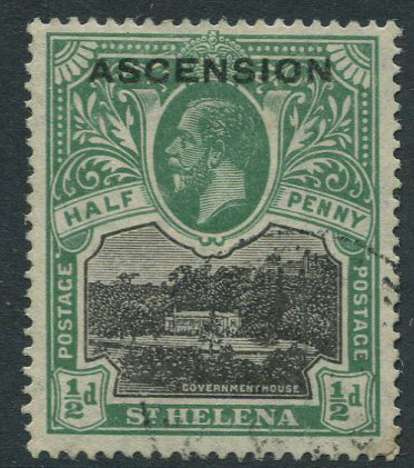 1922 Ascension ½d (SG1), f.u.