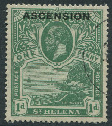1922 Ascension 1d (SG2), f.u.