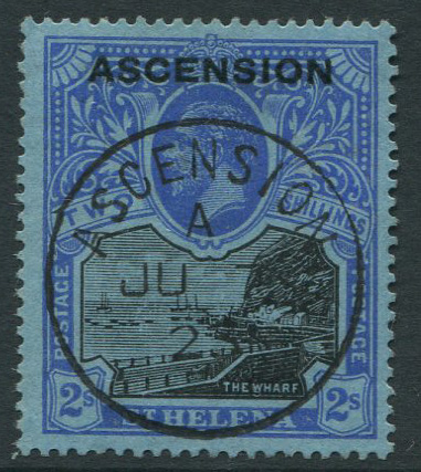 1922 Ascension 2/- (SG7), v.f.u.