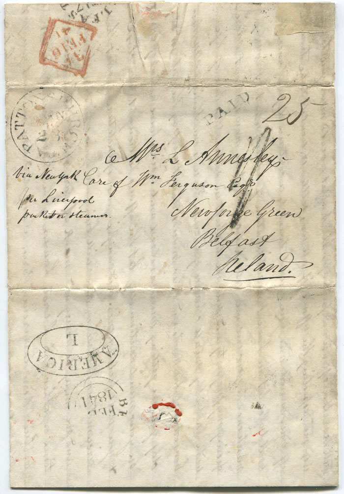 1841 (23 Jan) EL from Craigs Creek, Virginia to Belfast, Ireland
