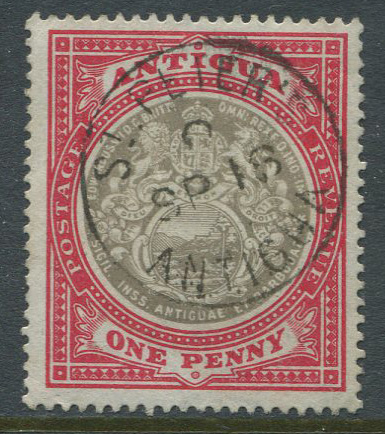 1903-7 Antigua 1d (SG32) with fine ST PETER