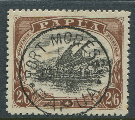 1910-11 Papua 2/6d (type C) (SG83), with inverted wmk., v.f.u.