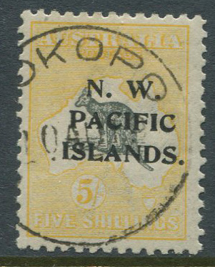 1918-23 New Guinea  N.W. PACIFIC ISLANDS ovpt. on 5/- (SG116)