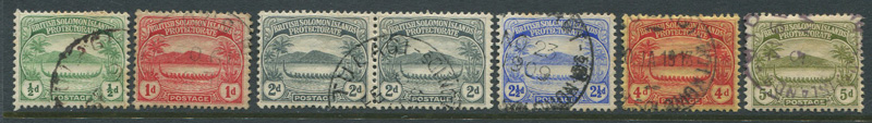 1908-11 British Solomon Is. set to 5d (SG8-12)