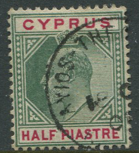 1904-10 Cyprus AYIOS THEODOROS KARPAS village cds cancel on  ½pi (SG62)