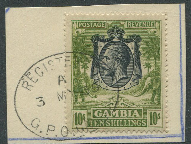 1922-29 Gambia 10/- (SG142)