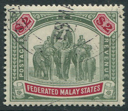 1904-22 Federated Malay States $2 (SG49)