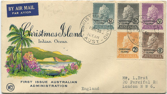 1958 Christmas Island set to $1 (SG1-10)