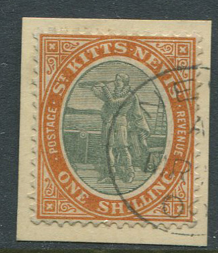 1903 St Kitts Nevis Crown CA 1/- (SG7)