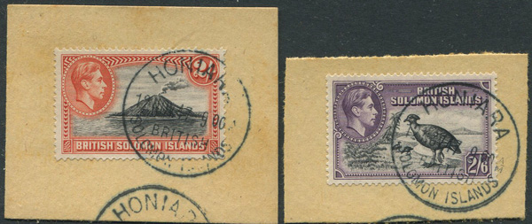 1939-51 British Solomon Islands 2/- t0 10/- (SG69-72)