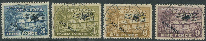 1931 New Guinea Air Mail set to £1 (SG137-49)