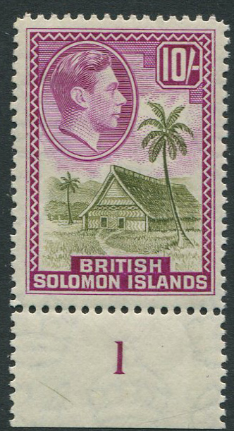 1939-51 British Solomon Is 10/- (SG72),