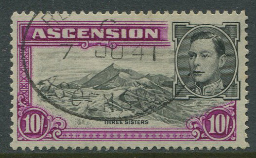 1938-53 Ascension Is. perf 13½ 10/-, (SG47)