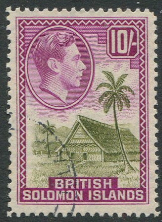 1939-51 British Solomon Is. 10/- (SG72)