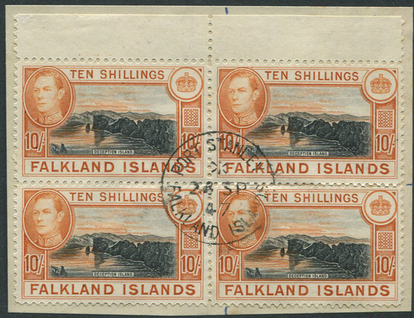 1938-50 Falkland Is. 10/- (SG162)