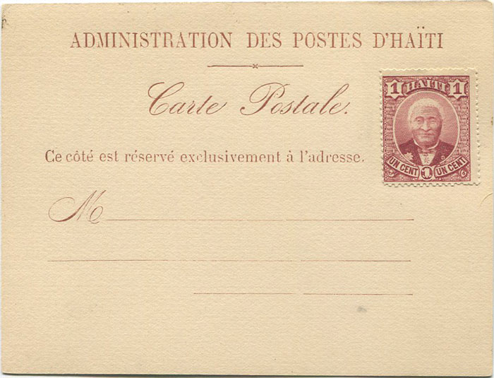 1889 Haiti postal stationery formular card
