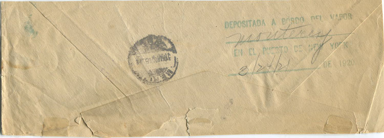1921 Consignee Mail S/S Monterey with Paquebot in m/s