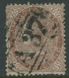 1860-70 Jamaica Pines 1/- dull brown (SG6b) with