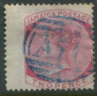 1870-83 Jamaica 2d rose (SG9) with