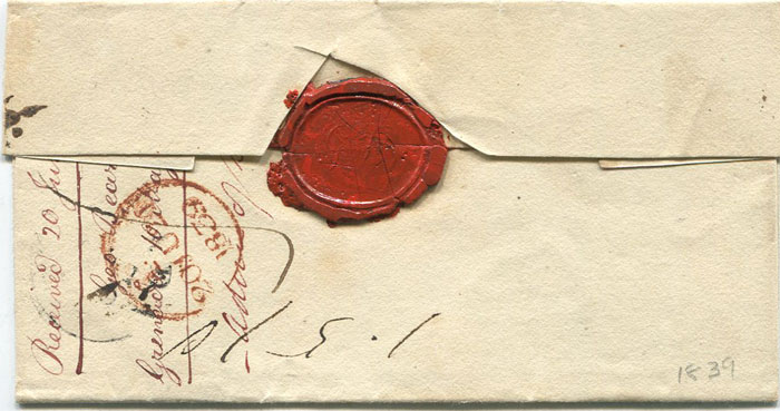 1839 (10 May) Grenada cover to London