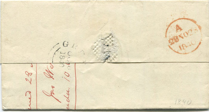 1840 (10 Oct) Grenada cover to London