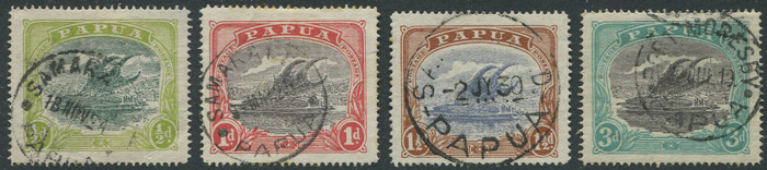 1916-31 Papua values to 1/- (SG93-102)