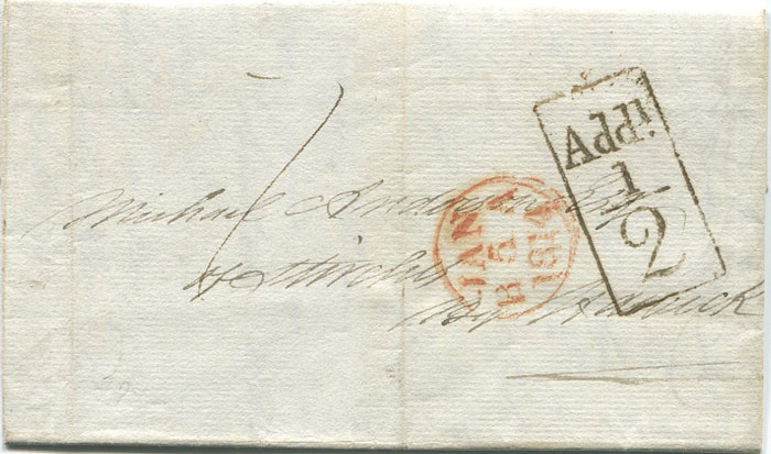 1814 (5  Jan) EDINBURGH boxed Add! ½
