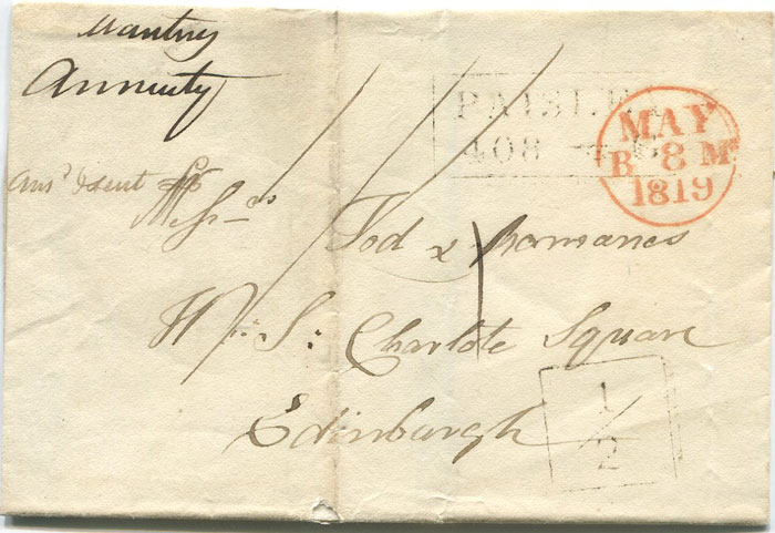 1819 (7 May) PAISLEY boxed ½