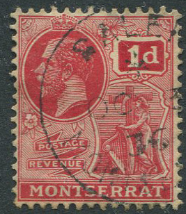 1936 SALEM MONTSERRAT * OC 3 36 village cds postmark on GV 1d