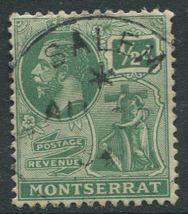 1934 SALEM MONTSERRAT * AU 22 34 village cds postmark on GV ½d