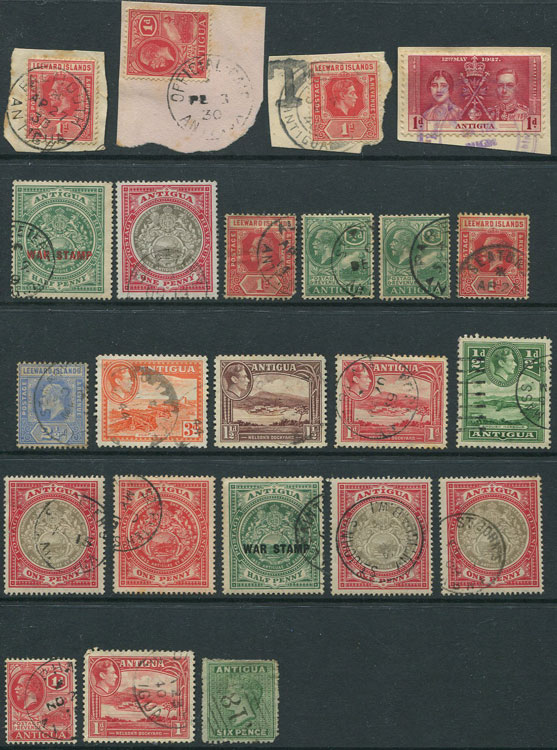 1863-1944 Antigua postmark selection
