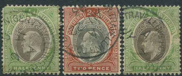 1903 NIGER TRAVELLING POST OFFICE postmark on Southern Nigeria