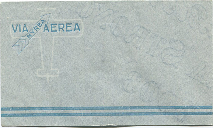 1930 N.Y.R.B.A. unused special printed air letter envelope.