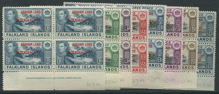 1945-5 Graham Land Falkland Is. Dependencies set to 1/-