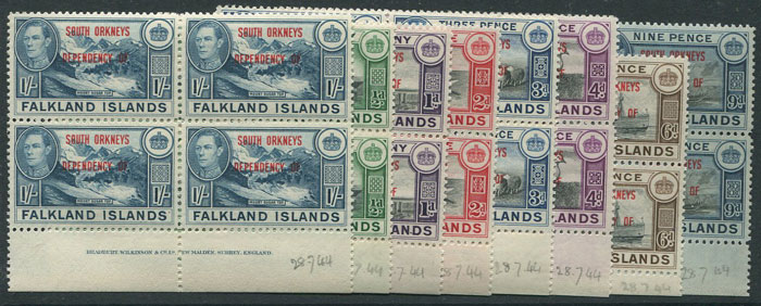 1945-5 South Orkneys Falkland Is. Dependencies set to 1/-