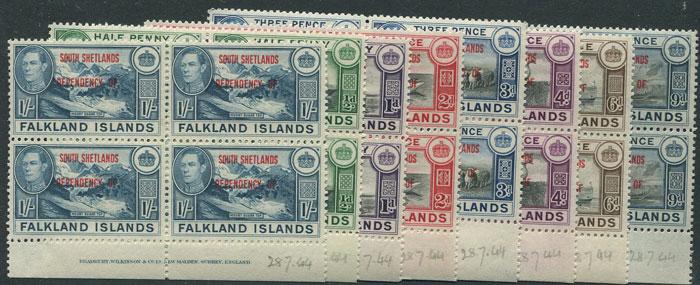 1945-5 South Shetlands Falkland Is. Dependencies set to 1/-