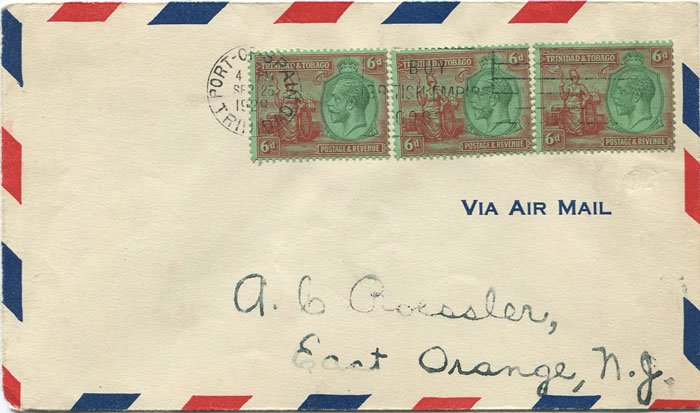 1929 (25 Sep) First flight cover Trinidad - U.S.A. per Pan Am