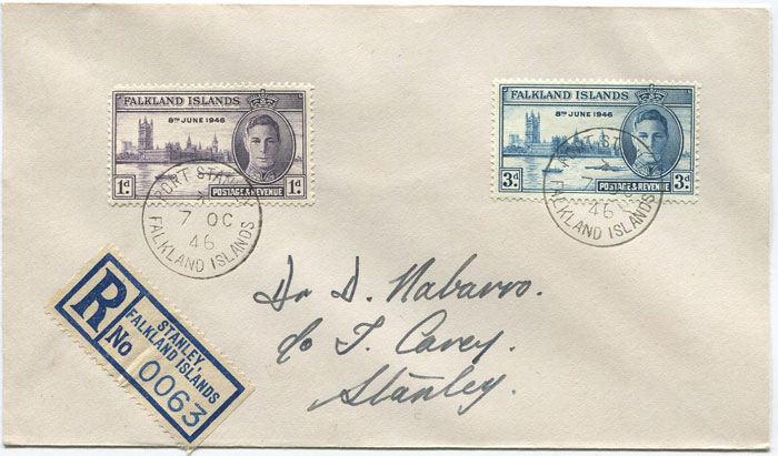 1946 Falkland Is. Victory pair (SG164-5)