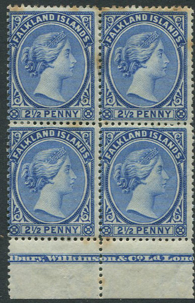 1891-1902 Falkland Is. 2½d deep ultramarine (SG30c)