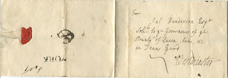 1741 (5 Sep) YORK s/l h/s (26mm) on cover to London