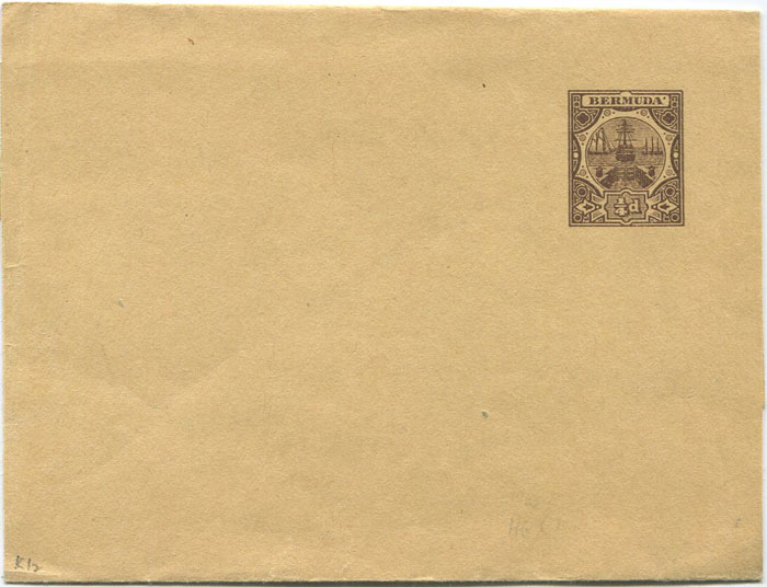 1903 Bermuda ¼d postal stationery wrapper