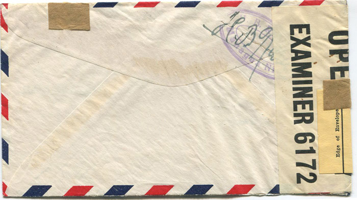 1941 (11 Jun) Nicaragua airmail cover to Germany censored in Bermuda