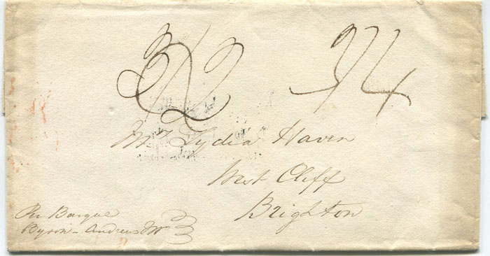 1827 Bahamas cover to England
