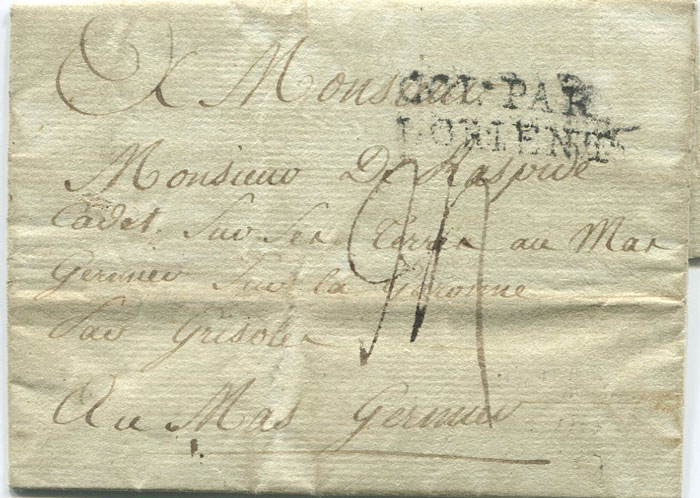 1788 (27 Oct) EL from St Pierre, Martinique to France
