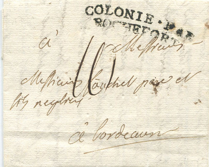 1791 (9 Sep) EL from Fort Royal, Martinique to France