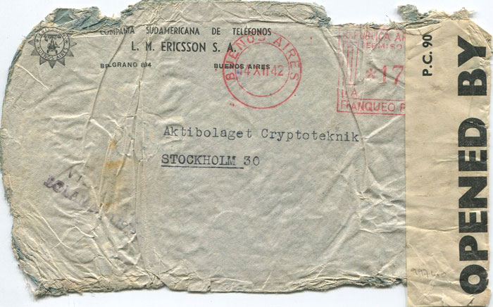 1943 (22 Feb) Crash cover to Sweden
