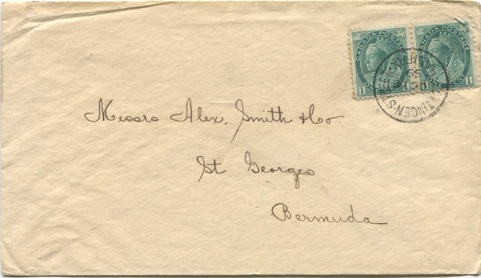 1899 (20 Oct) cover from Halifax, Nova Scotia to Bermuda